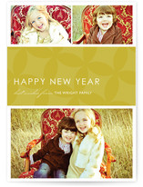 Mod Pattern New Year's Photo Cards