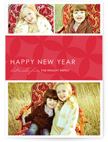 Mod Pattern New Year&#039;s Photo Cards