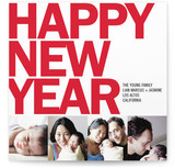Four Square New Year&#039;s Photo Cards