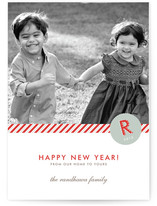 Monogram Prep New Year&#039;s Photo Cards