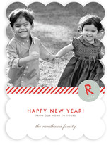Monogram Prep New Year's Photo Cards