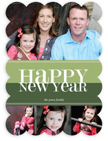 Bold Reflection New Year's Photo Cards