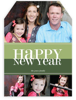Bold Reflection New Year&#039;s Photo Cards
