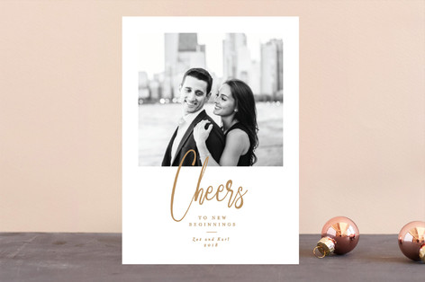 Classic Cheers New Year Photo Cards