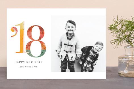 Splashed New Year Photo Cards