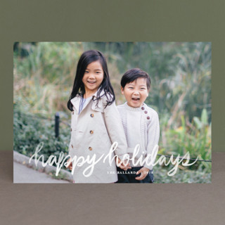 Hand Lettered Merry New Year Photo Cards