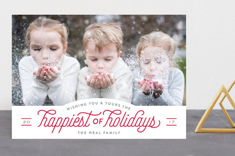 Holiday Pep New Year Photo Cards
