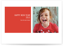 Modern Geometric New Year's Photo Cards