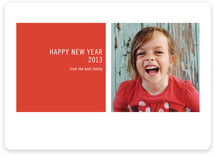 Modern Geometric New Year&#039;s Photo Cards