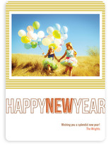 Modern Love New Year&#039;s Photo Cards