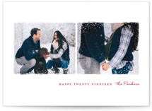 Snowy Frames New Year Photo Cards