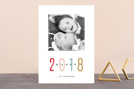 Marker New Year Photo Cards