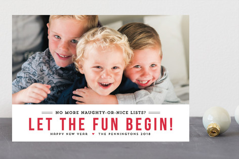 Fun Begins New Year Photo Cards