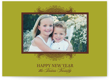 Ornate Frame New Year's Photo Cards