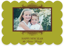Ornate Frame New Year&#039;s Photo Cards