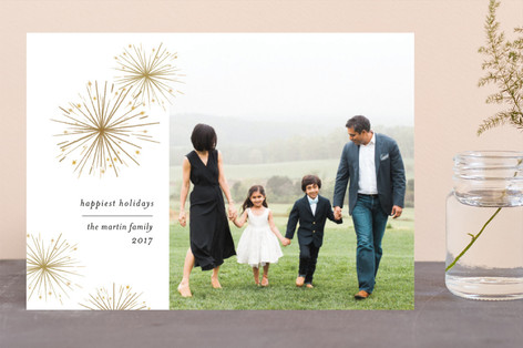 Sparkler New Year Photo Cards