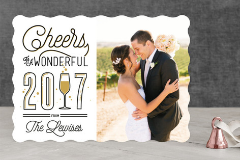 Glass Of Bubbly New Year Photo Cards