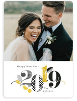 Stylized Year New Year Photo Cards