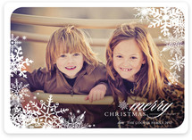 Snowflake Window New Year's Photo Cards