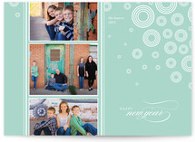 Snow Flurries New Year&#039;s Photo Cards