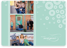 Snow Flurries New Year's Photo Cards