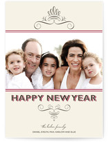 Simple Chic New Year&#039;s Photo Cards