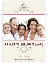 Simple Chic New Year's Photo Cards