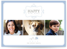 Simple Charm New Year's Photo Cards