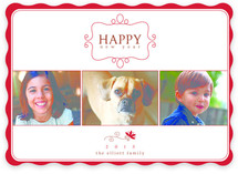 Simple Charm New Year&#039;s Photo Cards
