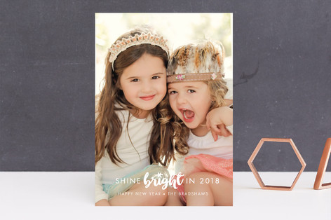 Shine Bright New Year Photo Cards