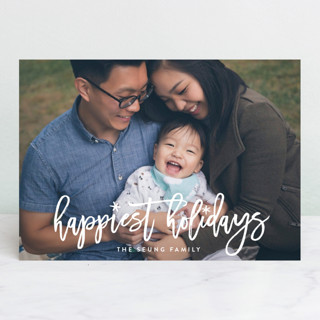 Fun Holiday Script New Year Photo Cards