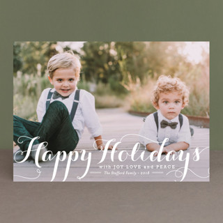 Spirit of Christmas New Year Photo Cards