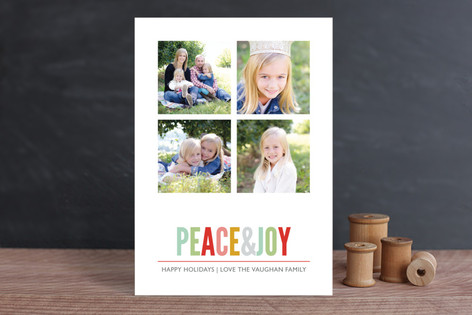 Brightly Colored New Year Photo Cards