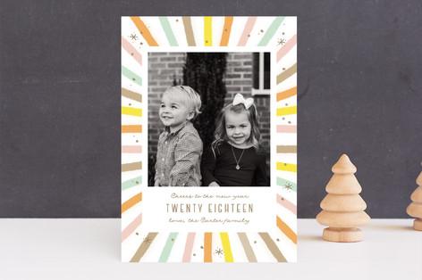 Cheer burst New Year Photo Cards