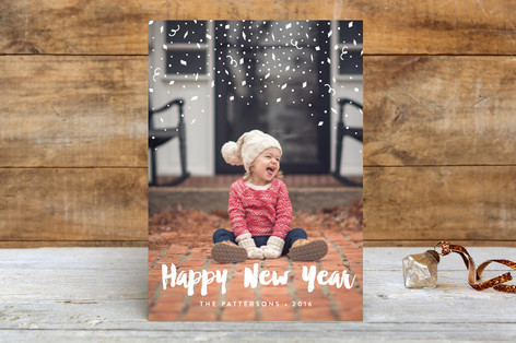 Confetti Toss New Year Photo Cards