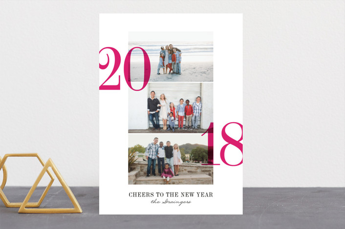 Triptych new year photo cards by ann gardner minted for Home decor 75063