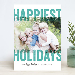 Bold Snow New Year Photo Cards
