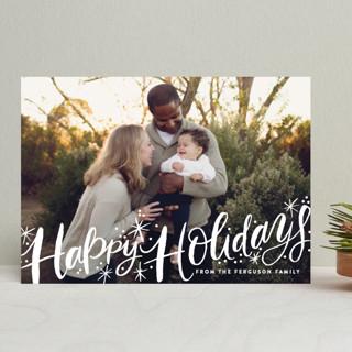 Merry Christmas Sparkle Snow New Year Photo Cards