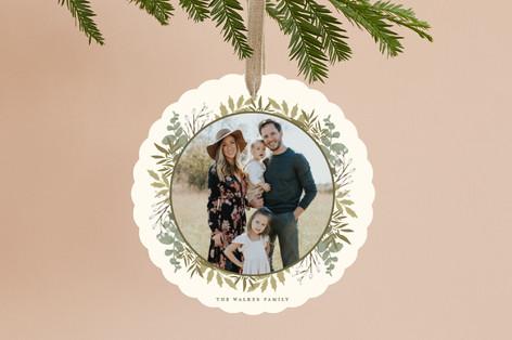 Gilded Woodland Frame Holiday Ornament Cards