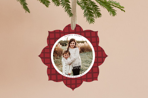 Holiday Grid Holiday Ornament Cards