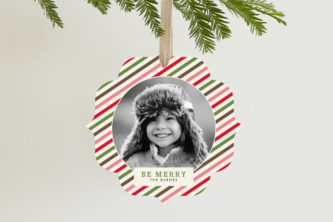 Twisted Peppermint Holiday Ornament Cards