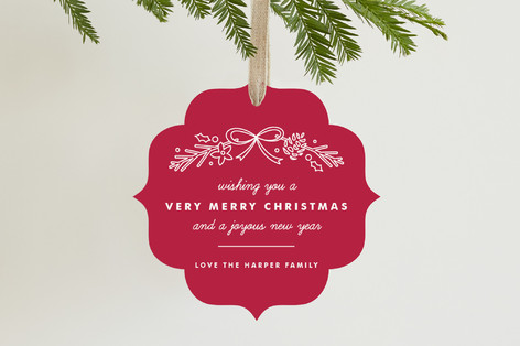 Garland Holiday Ornament Cards