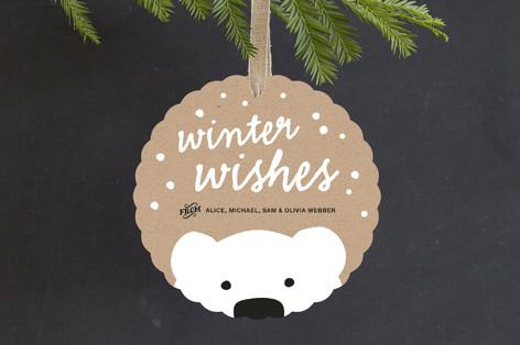 Polar Bear Wishes Holiday Ornament Cards
