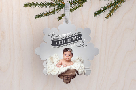 banner christmas holiday ornament cards