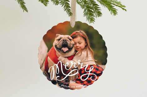Big Merry Holiday Ornament Cards