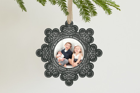 personalized snowflake photo ornament