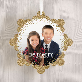Glittered Snowflake Holiday Ornament Cards