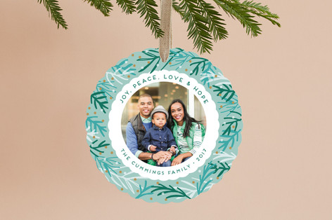 Winter Garden Holiday Ornament Cards