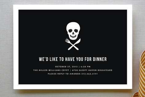Skull and Crossware Holiday Party Invitations