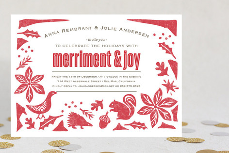 Pastoral Noel Holiday Party Invitations